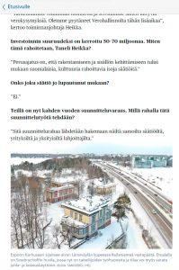 Helsingin Sanomien Karhusaaresta kertovan artikkelin kuva